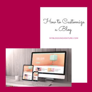 customize a blog